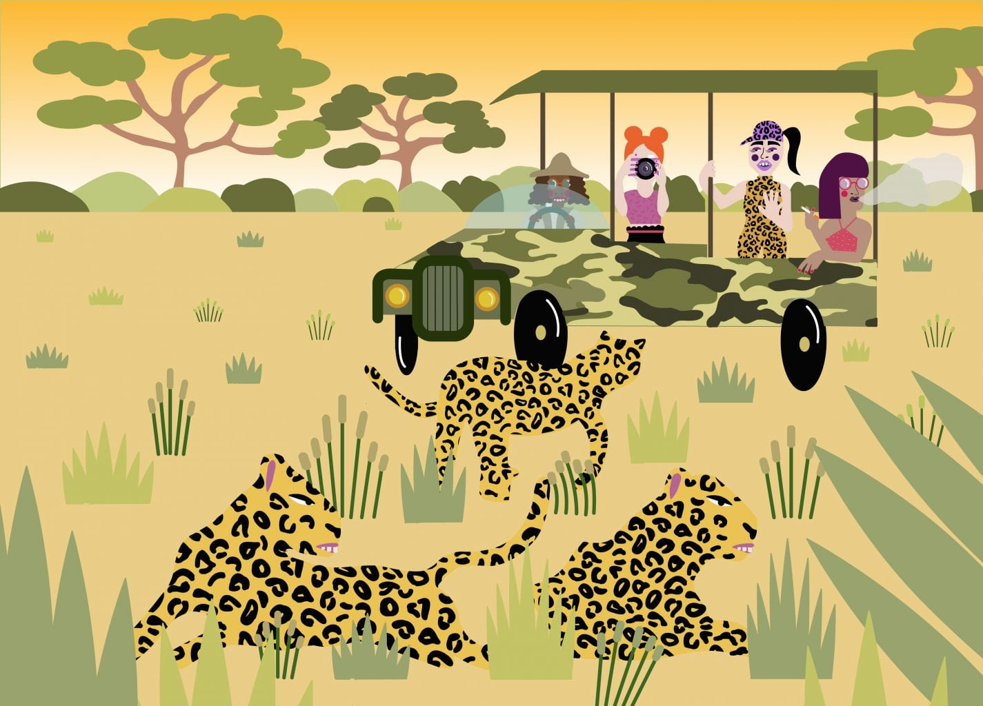 <p>'Safari' by Katie Brookes</p>