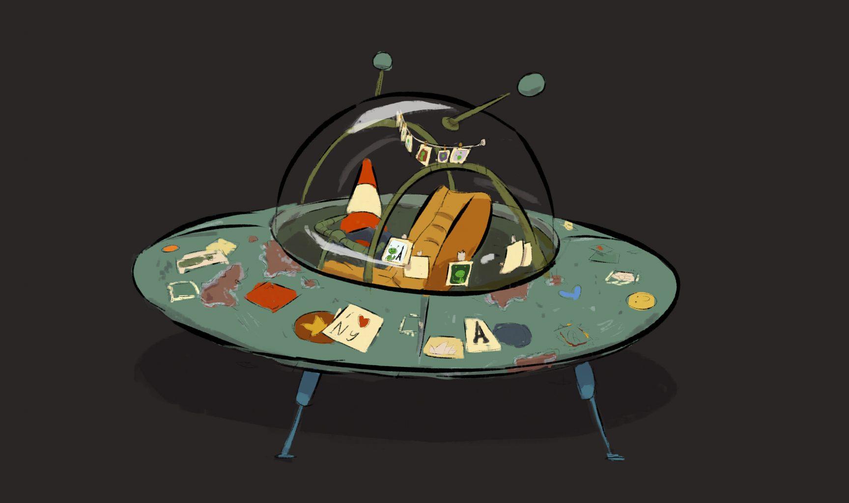 <p>Spaceship concept art</p>