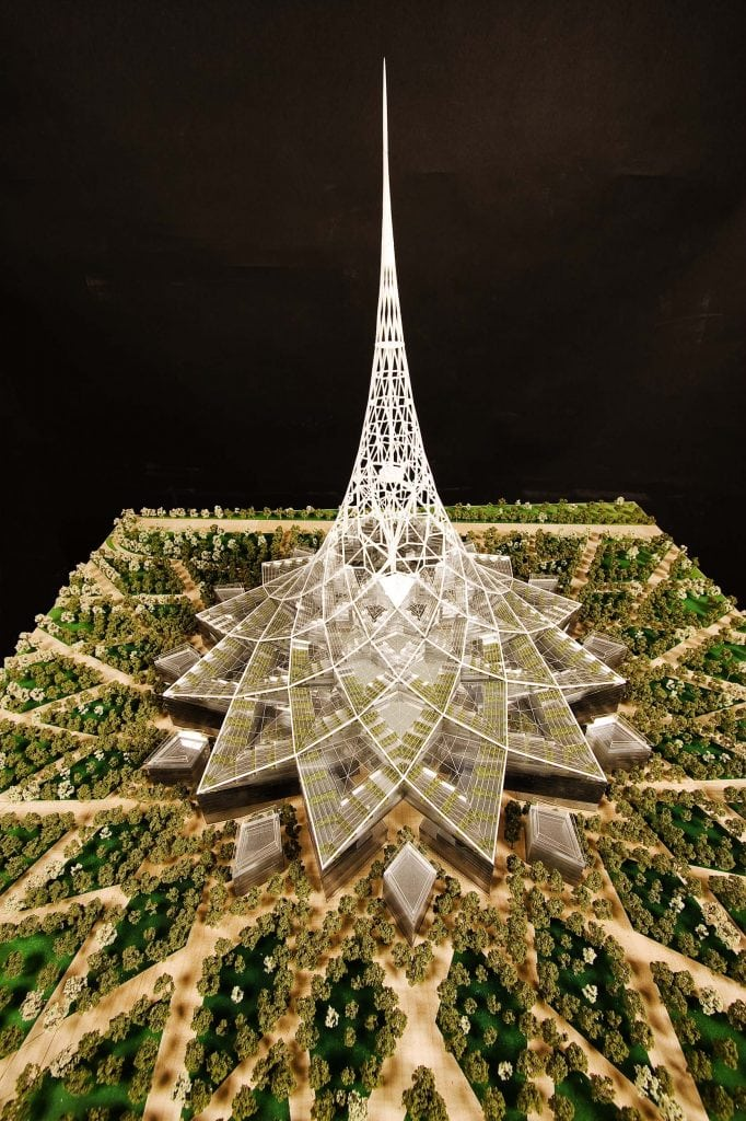 Model of a Crystal Tower