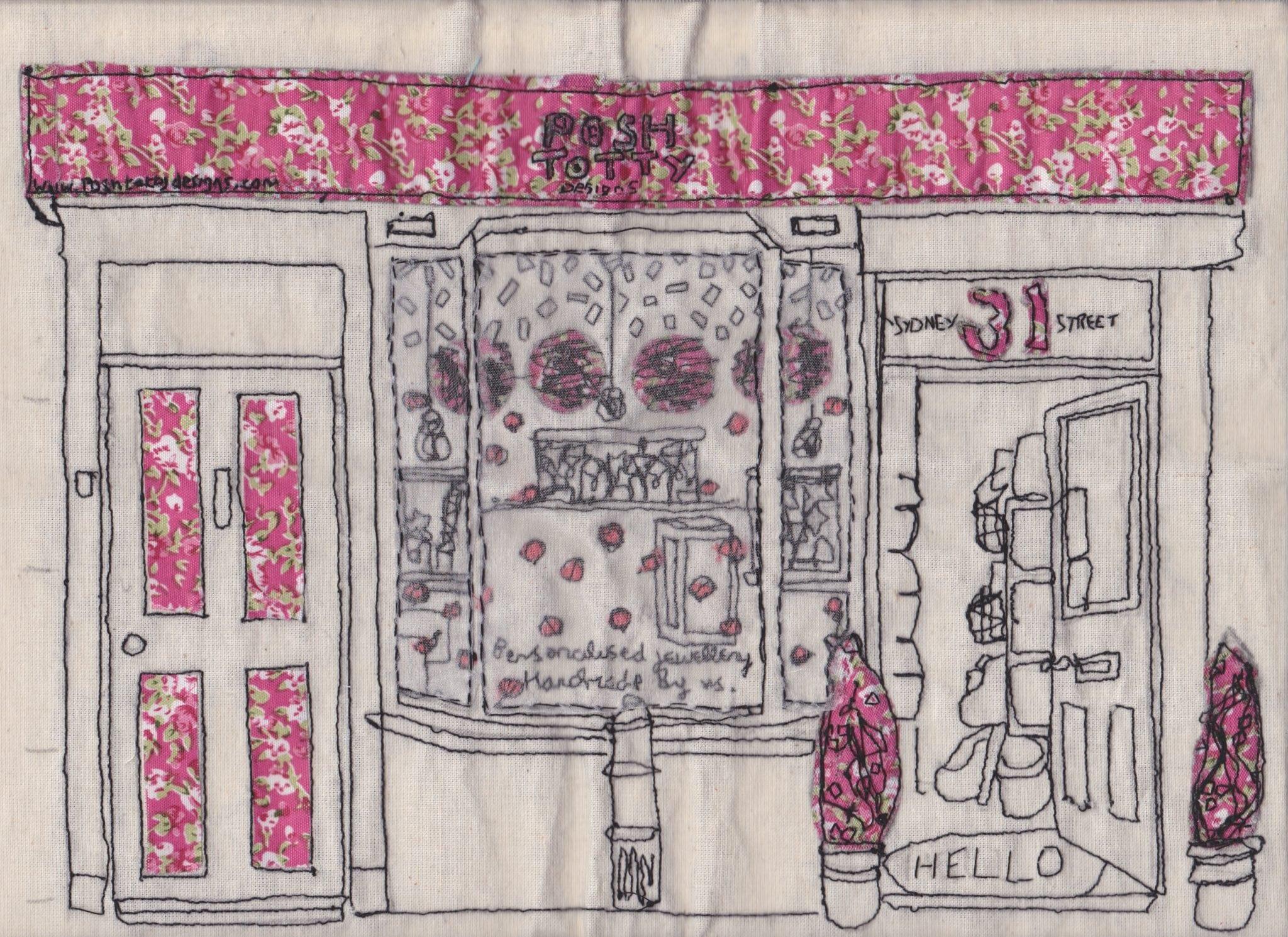 Illustration student designs shop window display