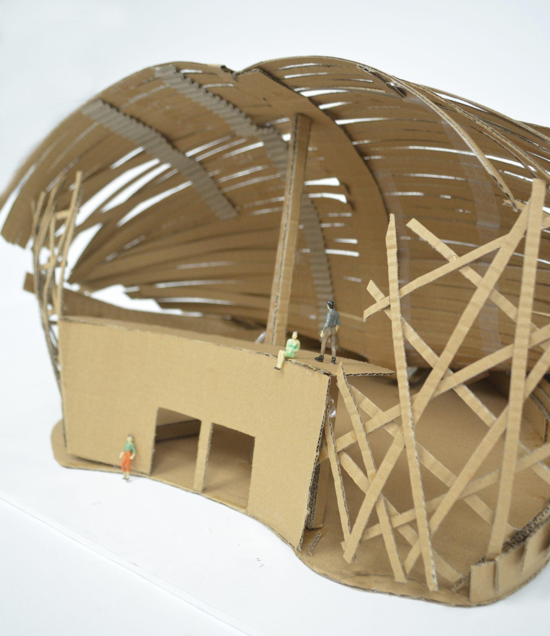 Interior Architecture students create Cardboard City