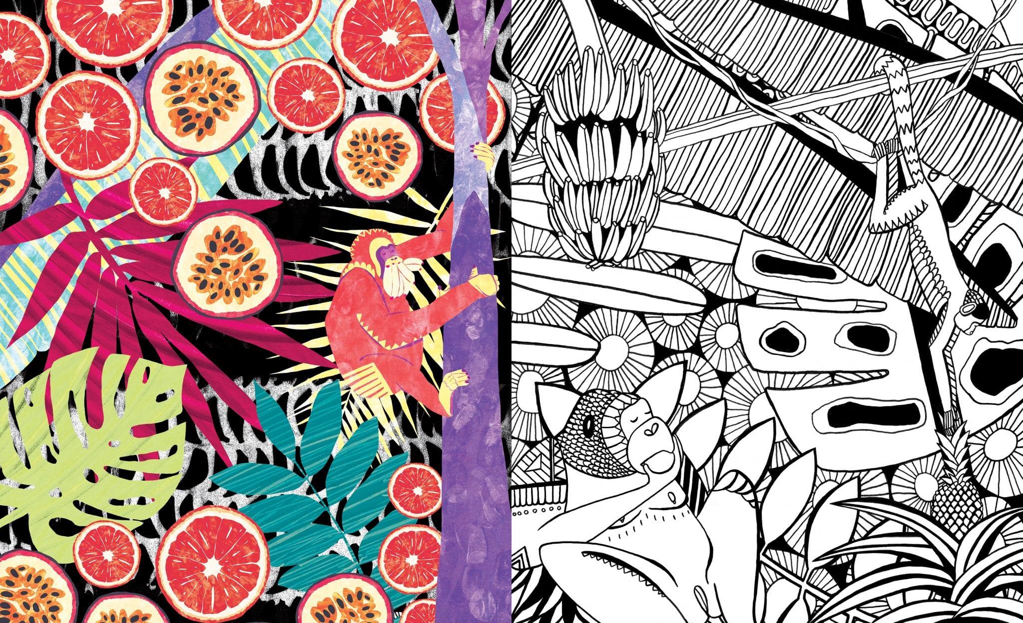 Illustration alumnus features in Amelia's Magazine Colouring Book