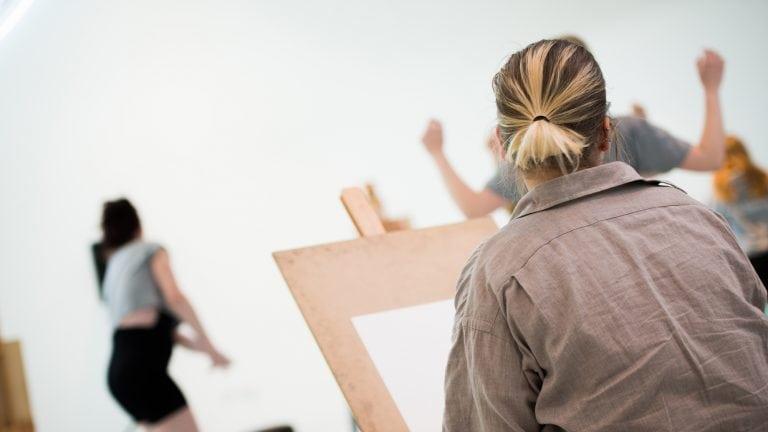 BA (Hons) Drawing - easels in Drawing Studio