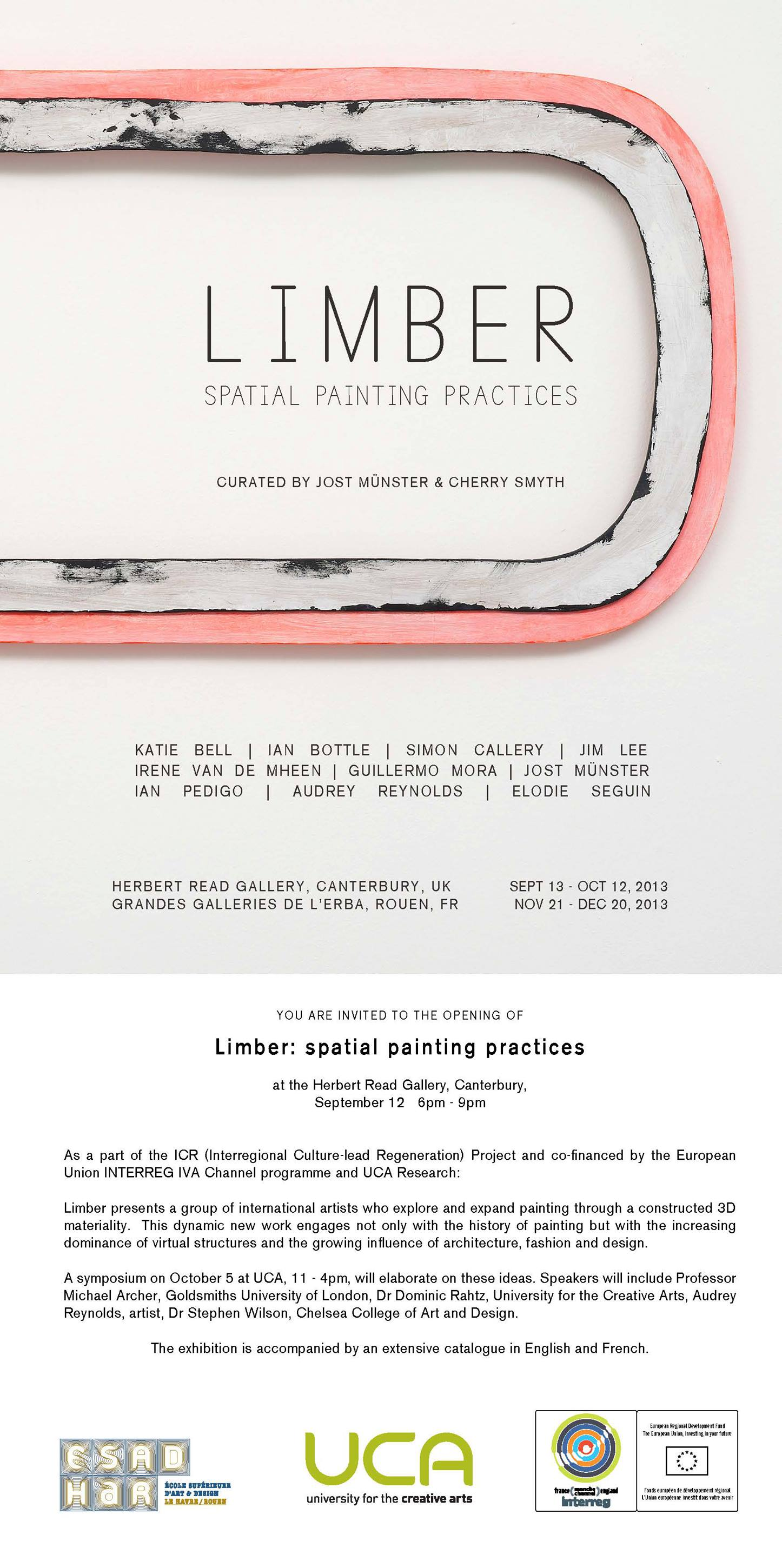 """Limber: spatial painting practices"" Exhibition at the UCA Herbert Read Gallery"