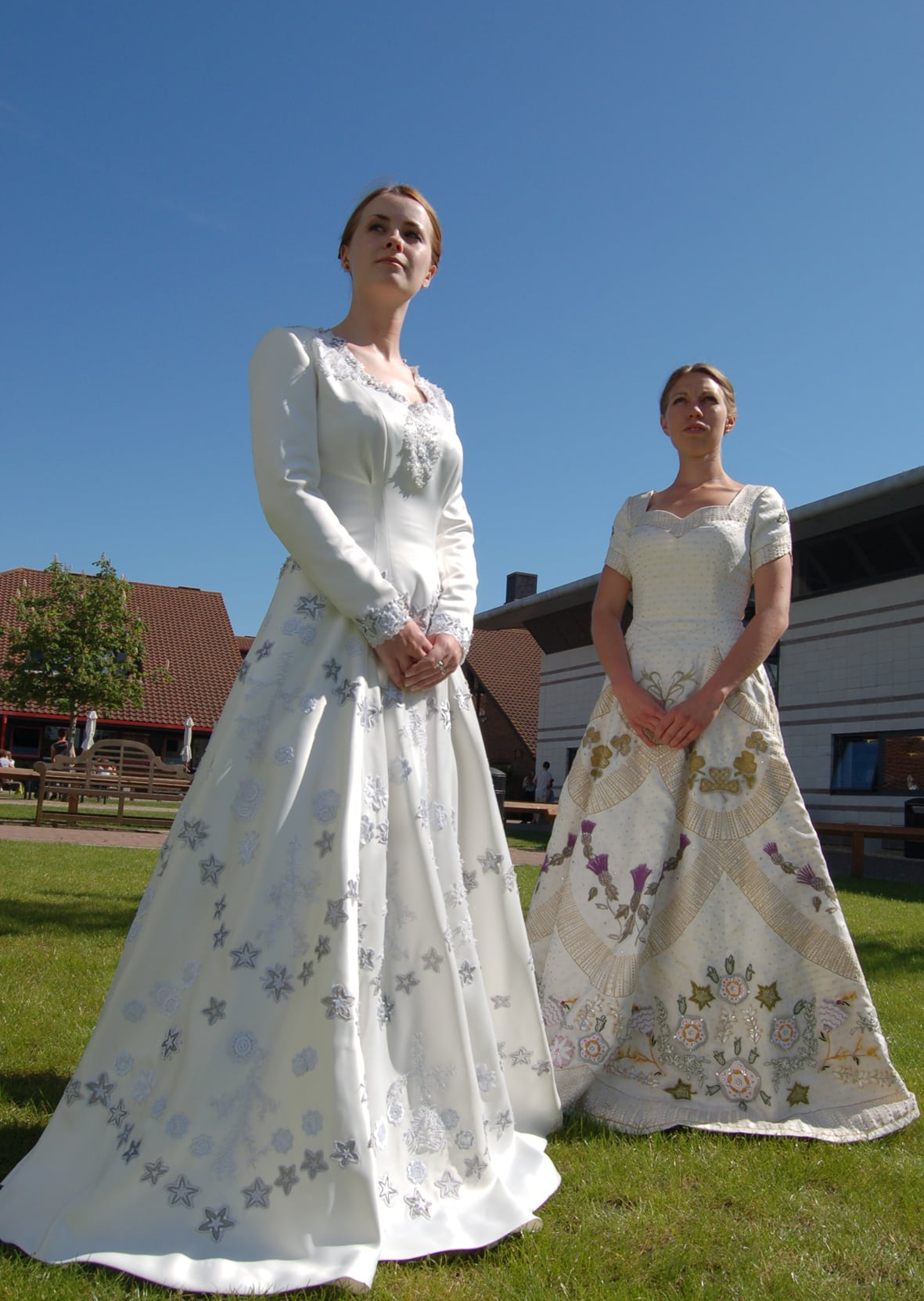 Students create intricate replicas of the Queen's coronation and wedding dress