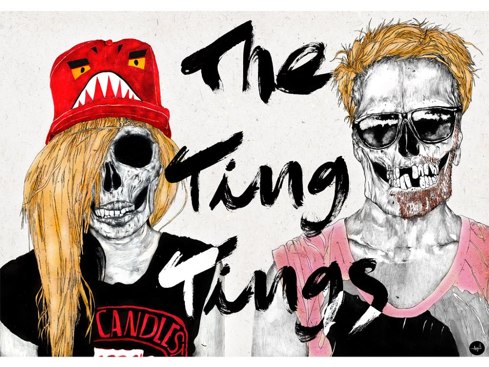 Third Year Illustration student Milan Abad has artwork selected for The Ting Tings album cover