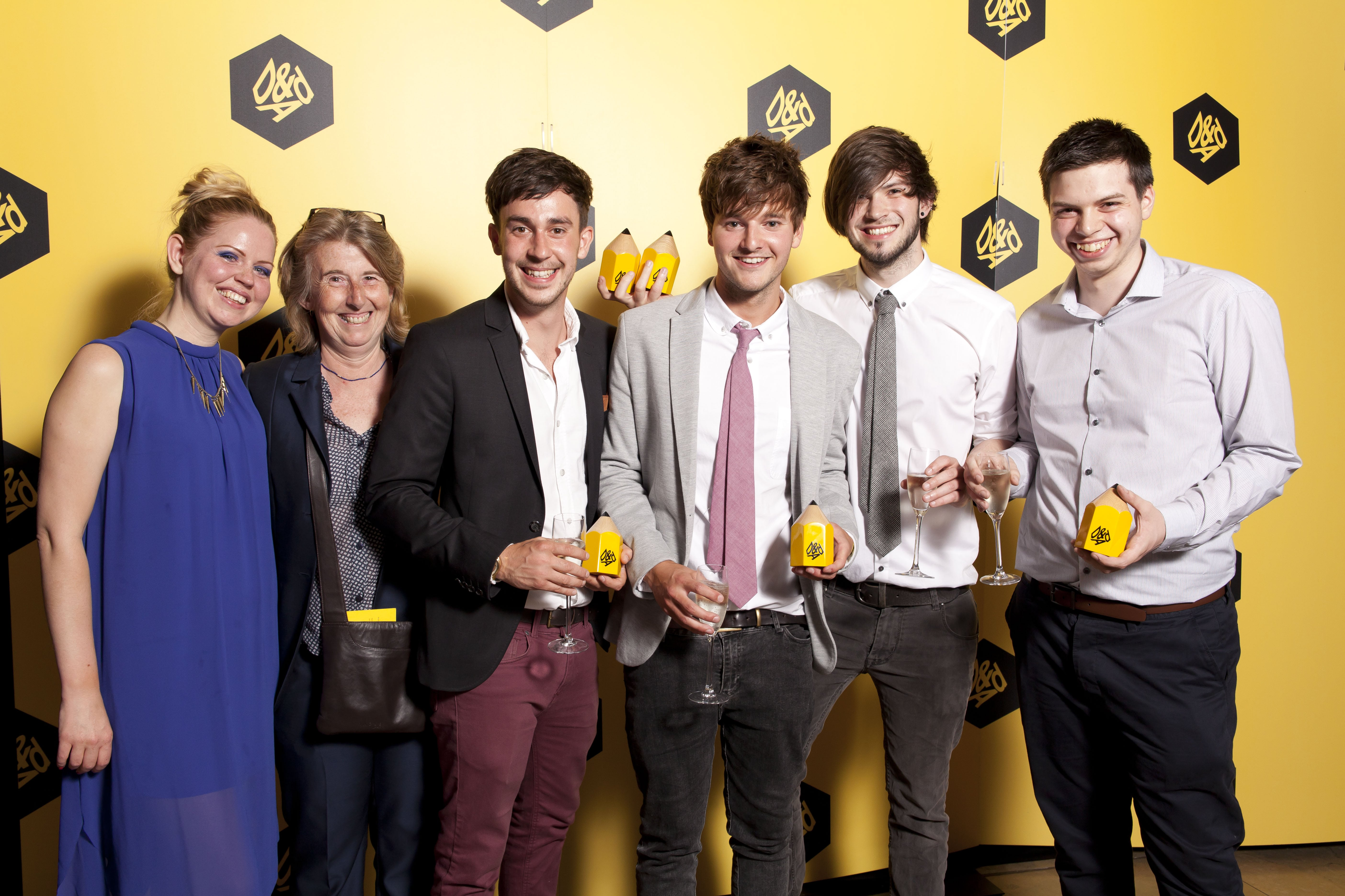 Yellow is the colour of success for AUB at D&AD New Blood Awards