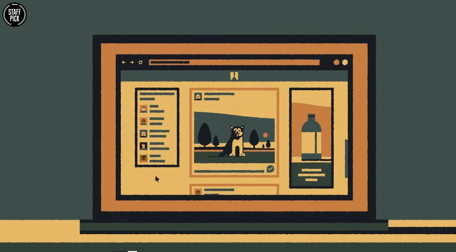Illustration student selected as Vimeo 'Staff Pick'