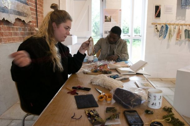 Textile and Architecture students collaborate on residency at Walford Mill Crafts