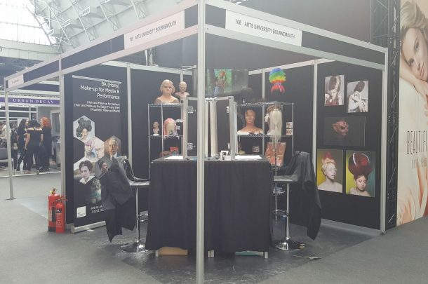 Make-Up students at IMATS