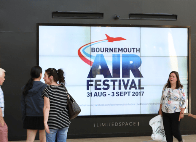 AUB Student Film Celebrating 10 years of Bournemouth Air Show aired in UK Shopping Centres