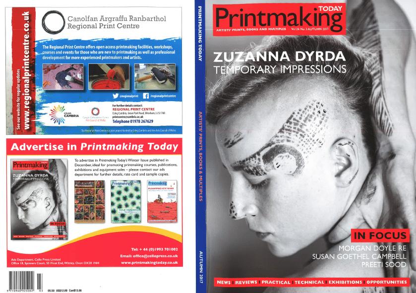 Printmaking Technician Demonstrator, Preeti Sood, is featured in Printmaking Today