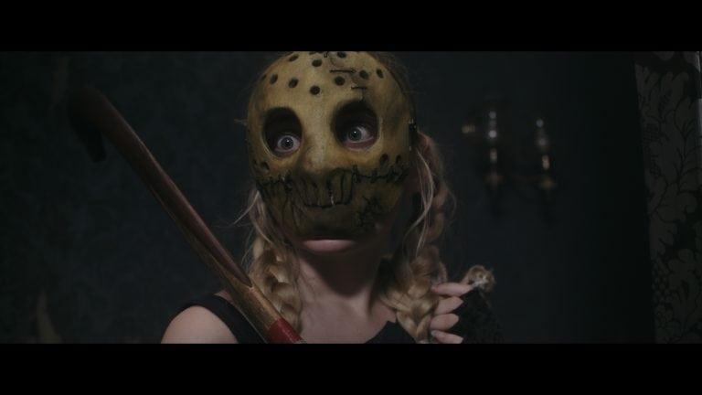 Treehouse image of girl in hockey mask