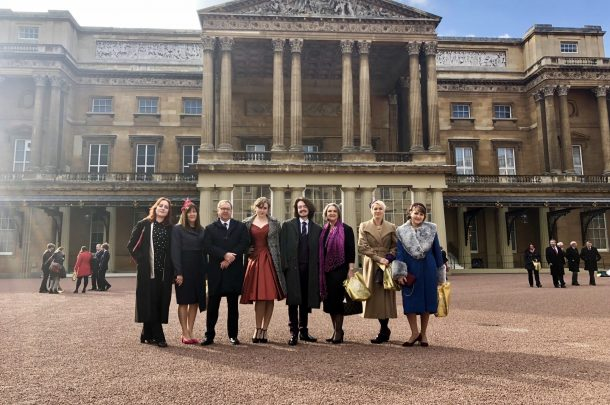 Students Represent at Buckingham Palace for Queen's Anniversary Prize Win