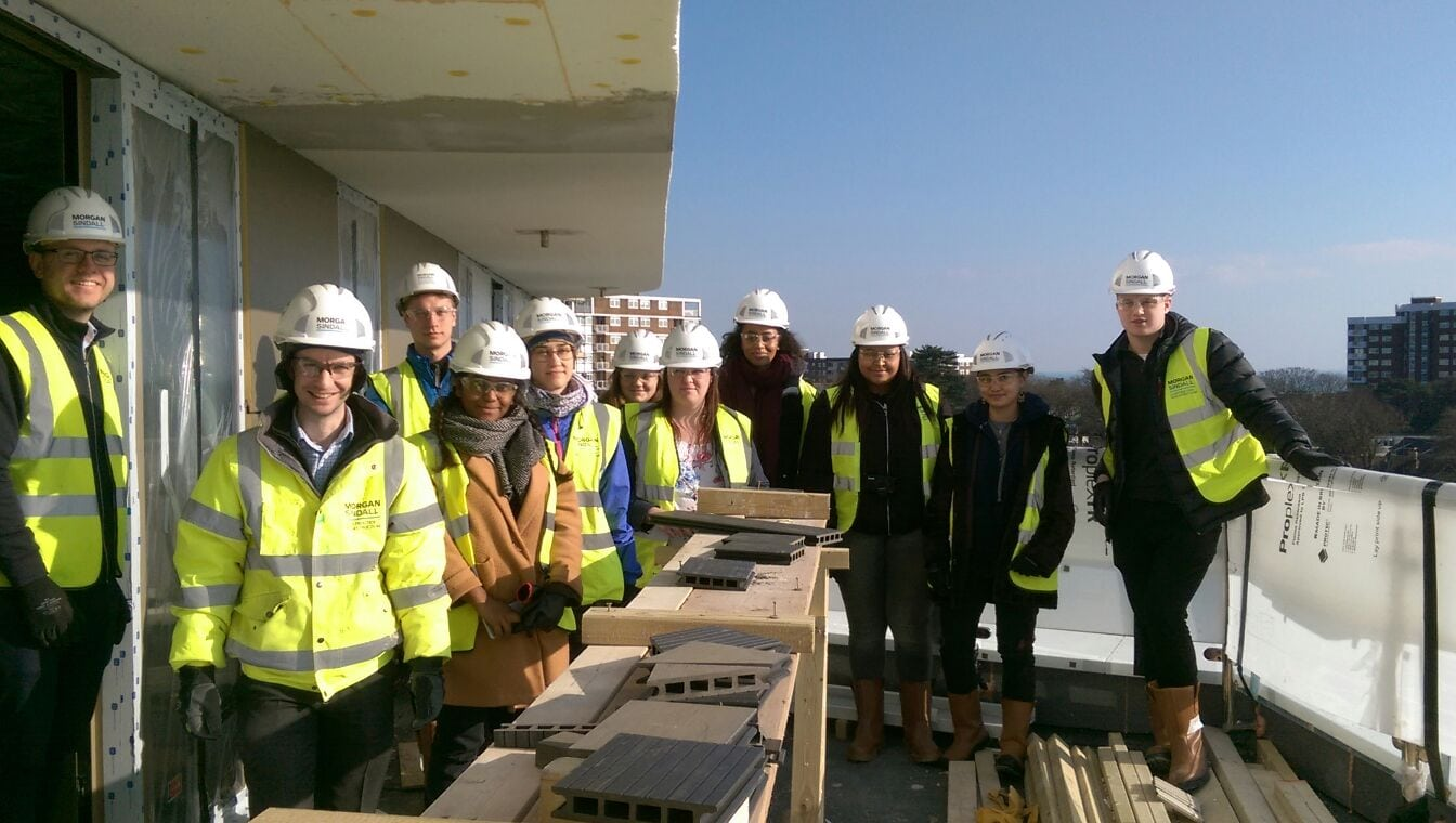 Architecture Students Visit Berry Court Development Site