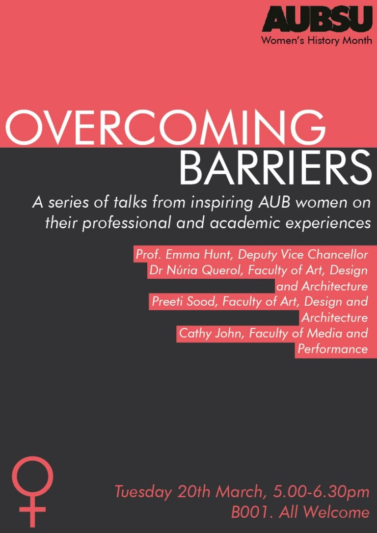 Overcoming Barriers AUBSU event