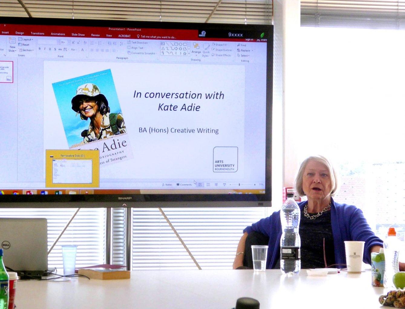<p>Kate Adie OBE Creative Writing workshop</p>