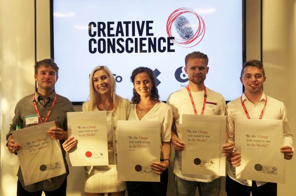 Five BA (Hons) Graphic Design students win at the Creative Conscience Awards