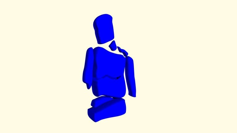 blue figure blender