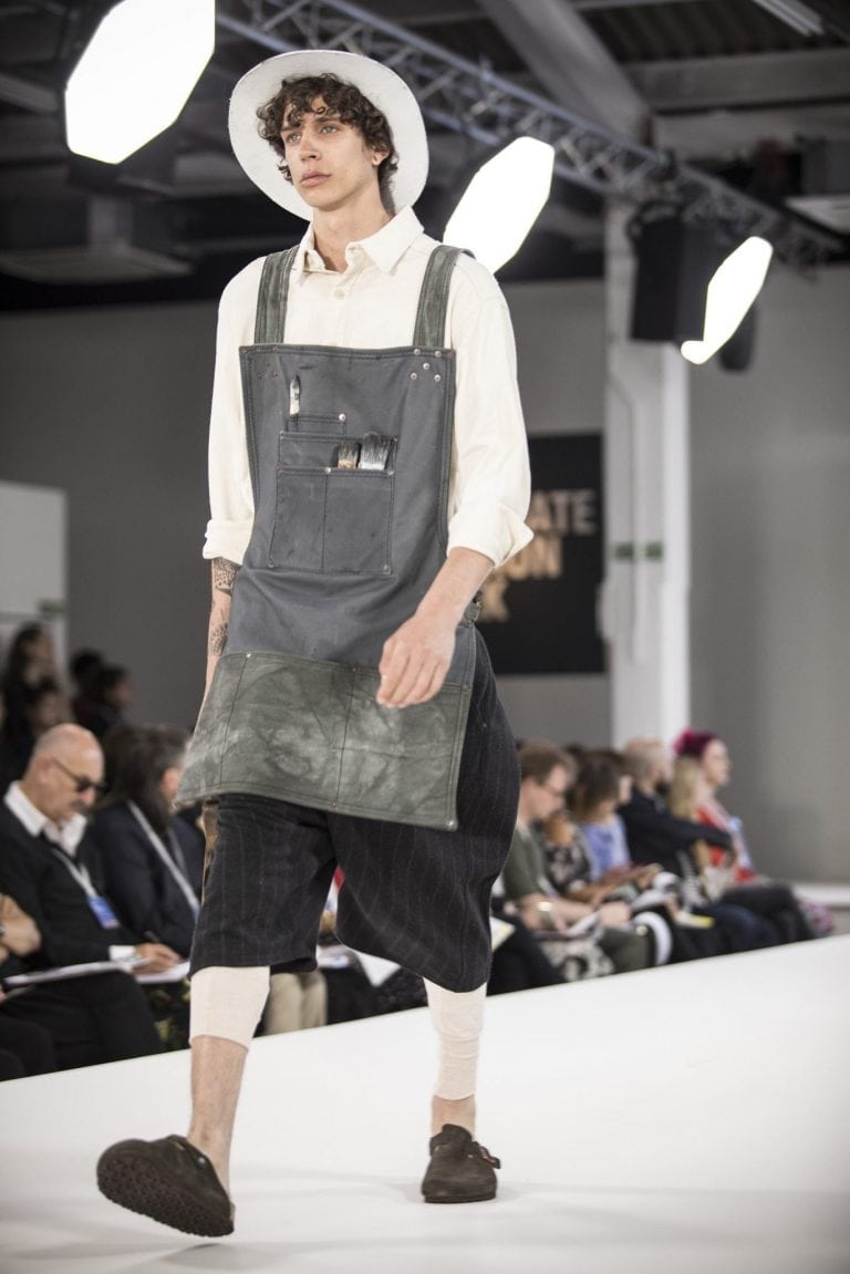 One of BA (Hons) Fashion alumnus Daniel Rynne's designs at Graduate Fashion Week