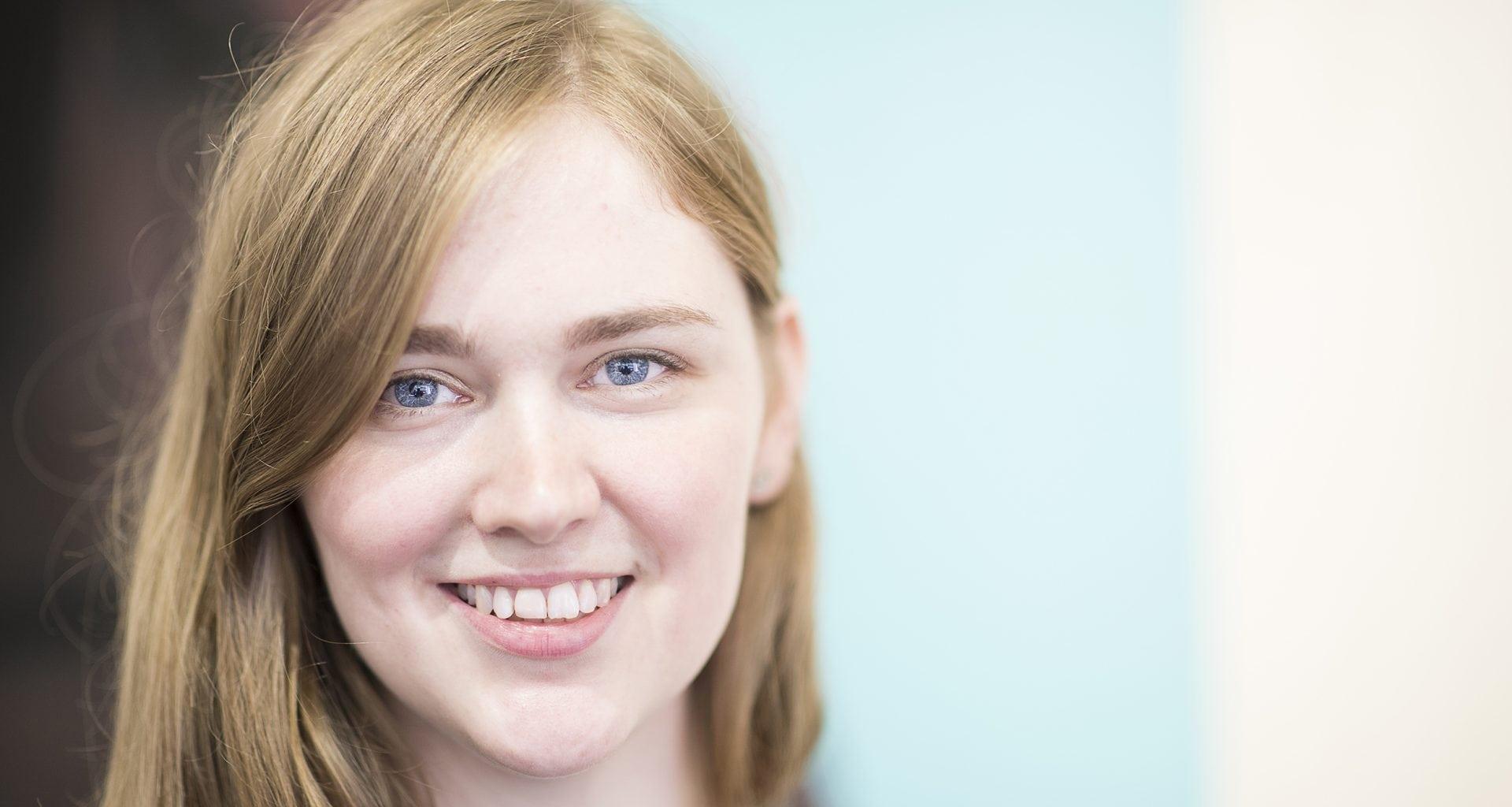 Visual Communication graduate Lucy Saunders