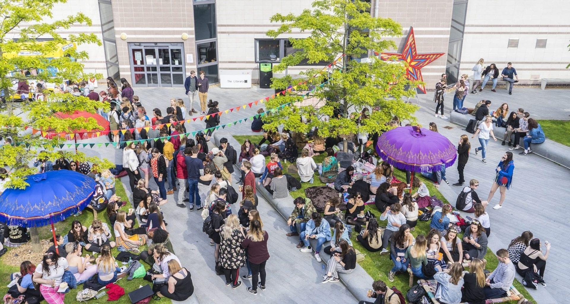 Students enjoying Bestival 2018