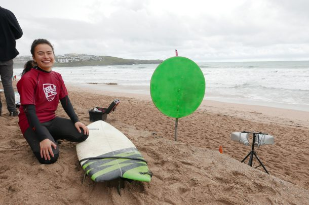 Graphic Design student wins heat at BUCS Surfing Championships
