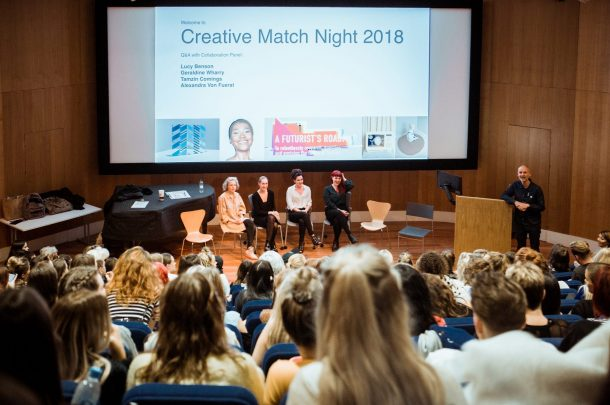 Final year students from five courses take part in collaborative Creative Match Night 2018