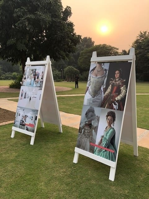 Images of work from courses throughout AUB was represented on large boards exhibited in the beautiful gardens at the British High Commissioner's residence
