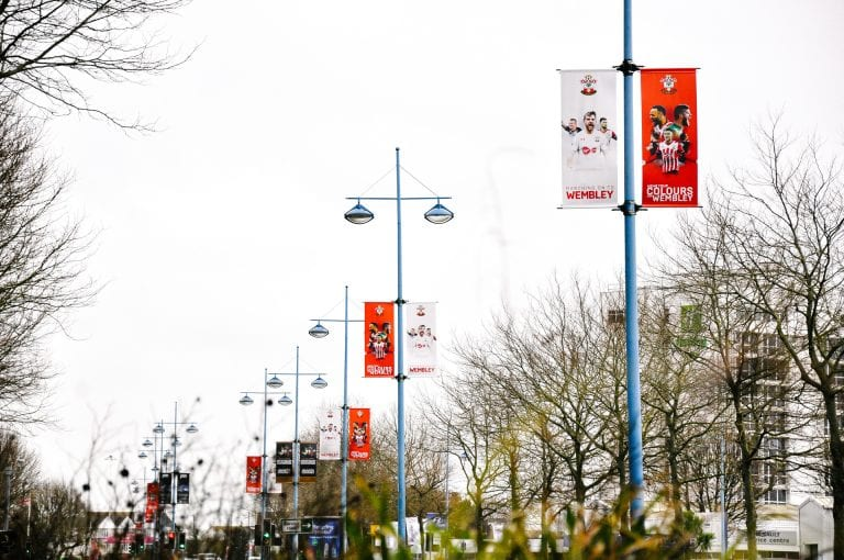 Wembley Way Flag Banner