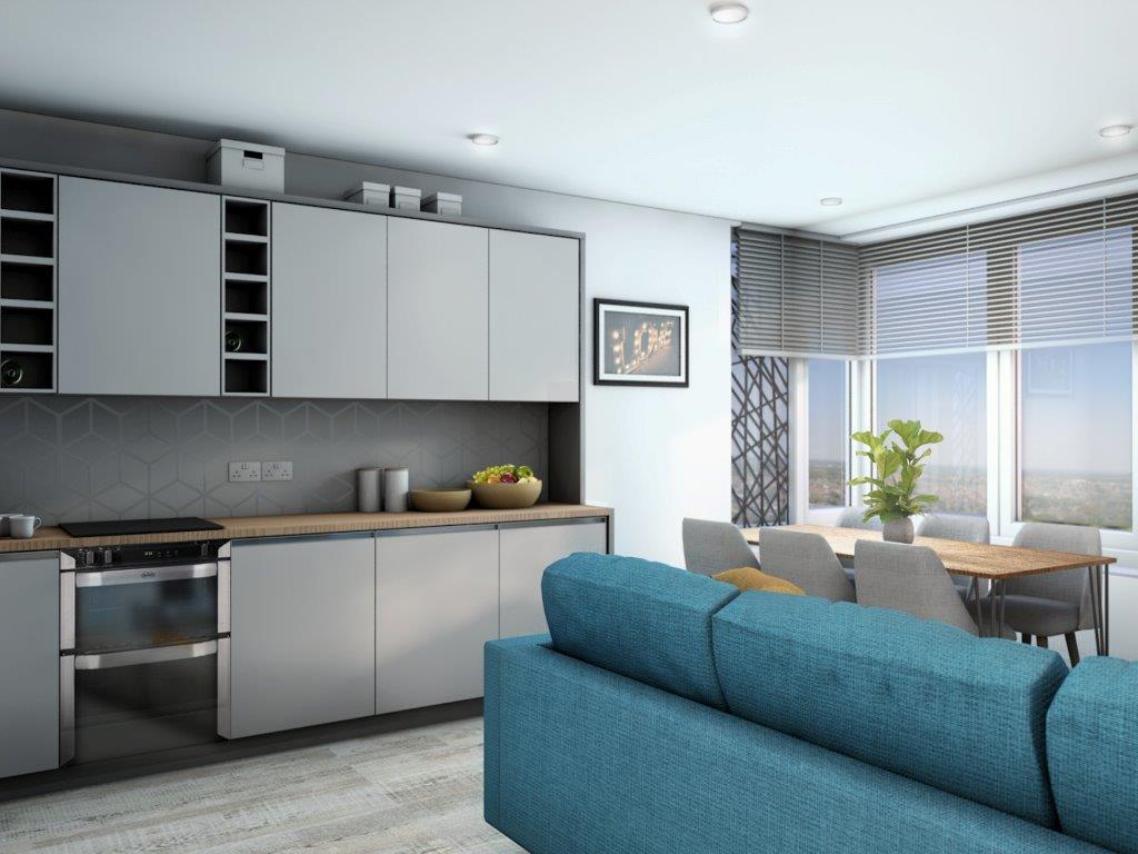 New Build Halls of Residence - Skyline - Arts University Bournemouth