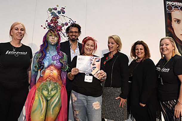 Second year BA (Hons) Make-up student wins third place in body warpaint championship competition