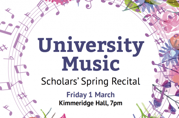 University Music Spring Scholars' Recital to take place on Friday 1st March