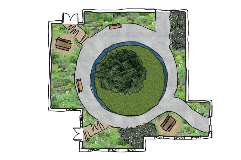 Courtyard Plan by Jasmine Hunt