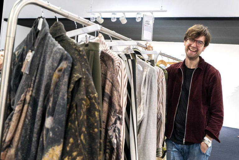 AUB Fashion graduate Janislav Solovjov at London Fashion Week.