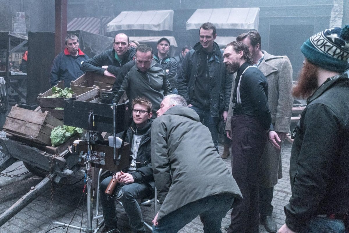 AUB graduate Nick Rowland on set directing Ripper Street.