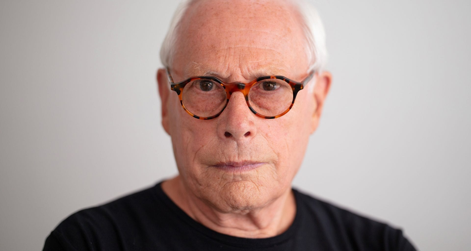 A portrait of Designer Dieter Rams.
