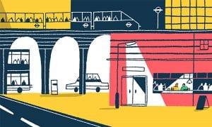 Abstract illustration of London