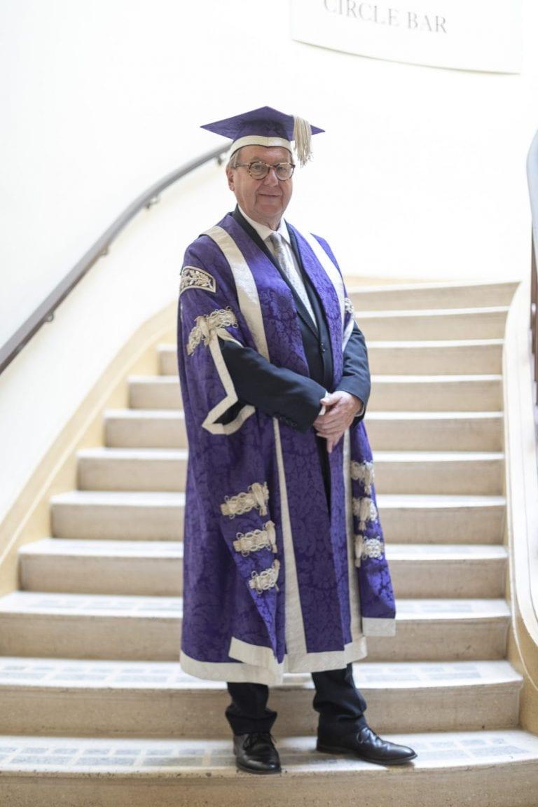 Former Vice Chancellor, Stuart Bartholomew, celebrating Graduation 2019