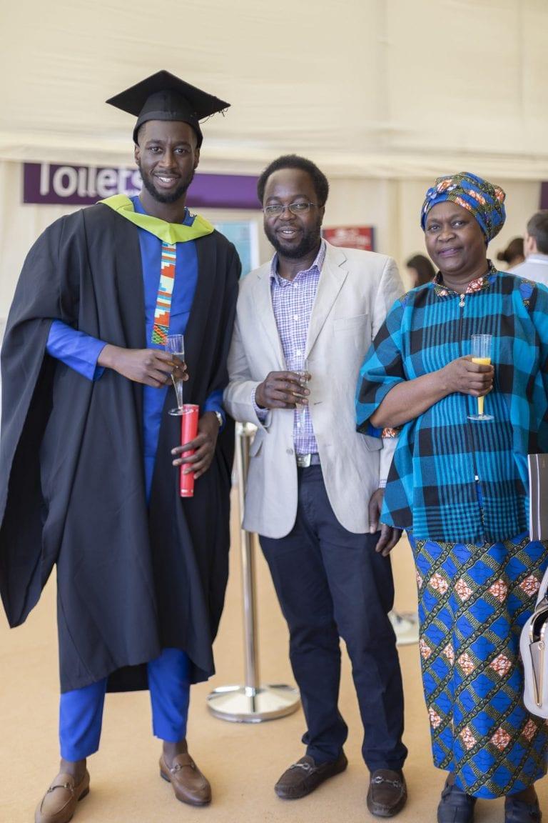 Students celebrating Graduation 2019