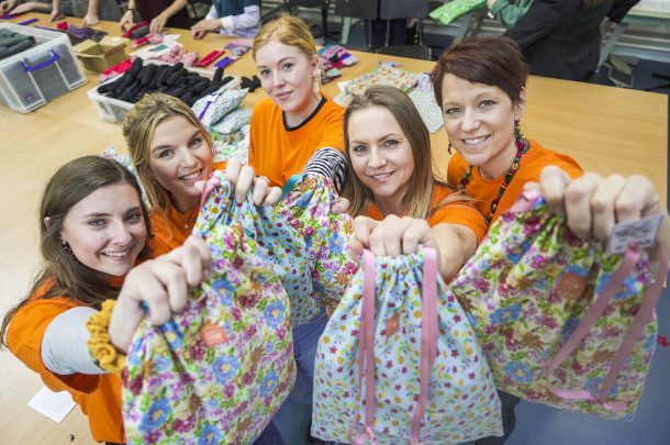 AUB Costume staff and students are helping to end period poverty