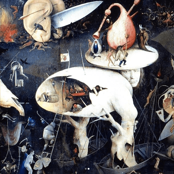 Hieronymous Bosch's The Garden of Earthly Delights (1490-1510).
