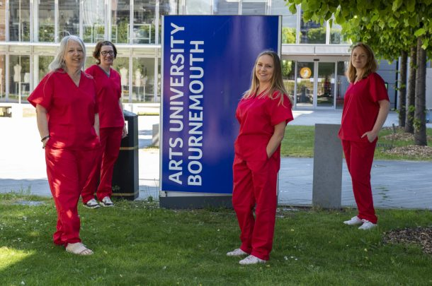 AUB produces more than 200 sets of scrubs for frontline NHS workers